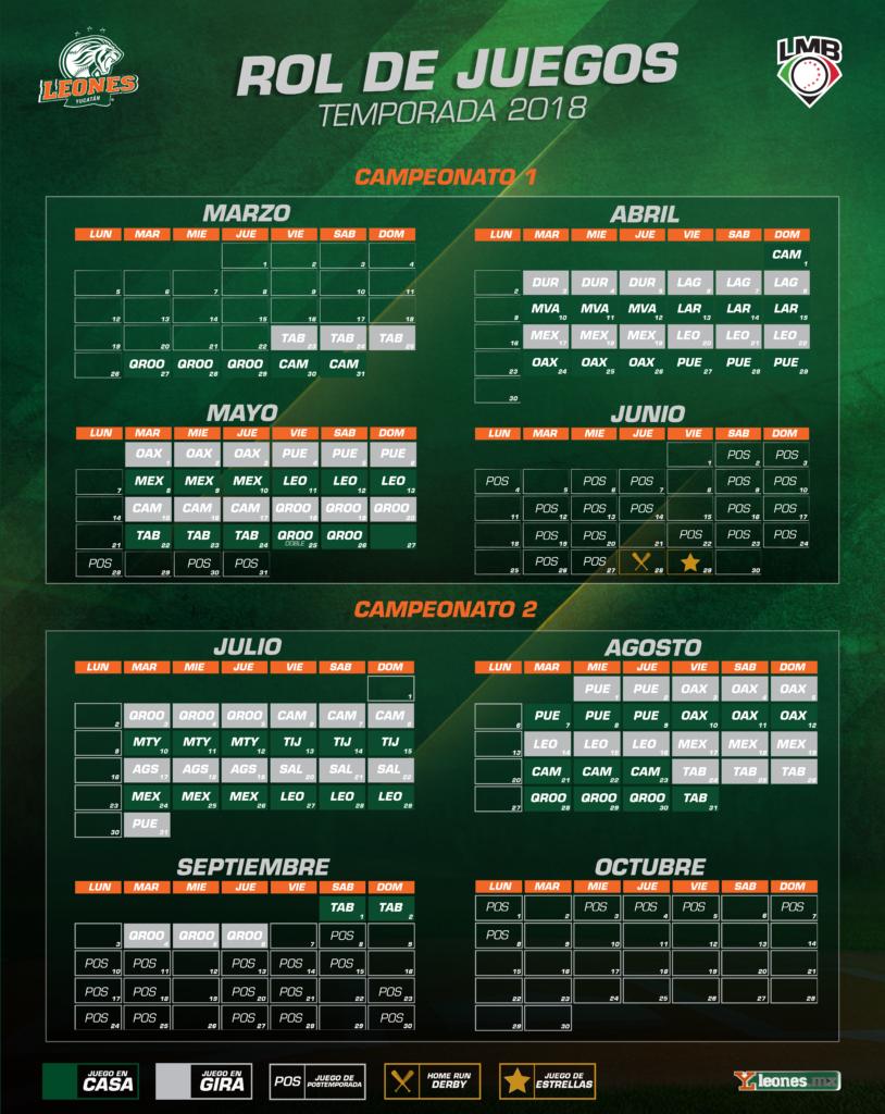 Calendario Temporada 2018