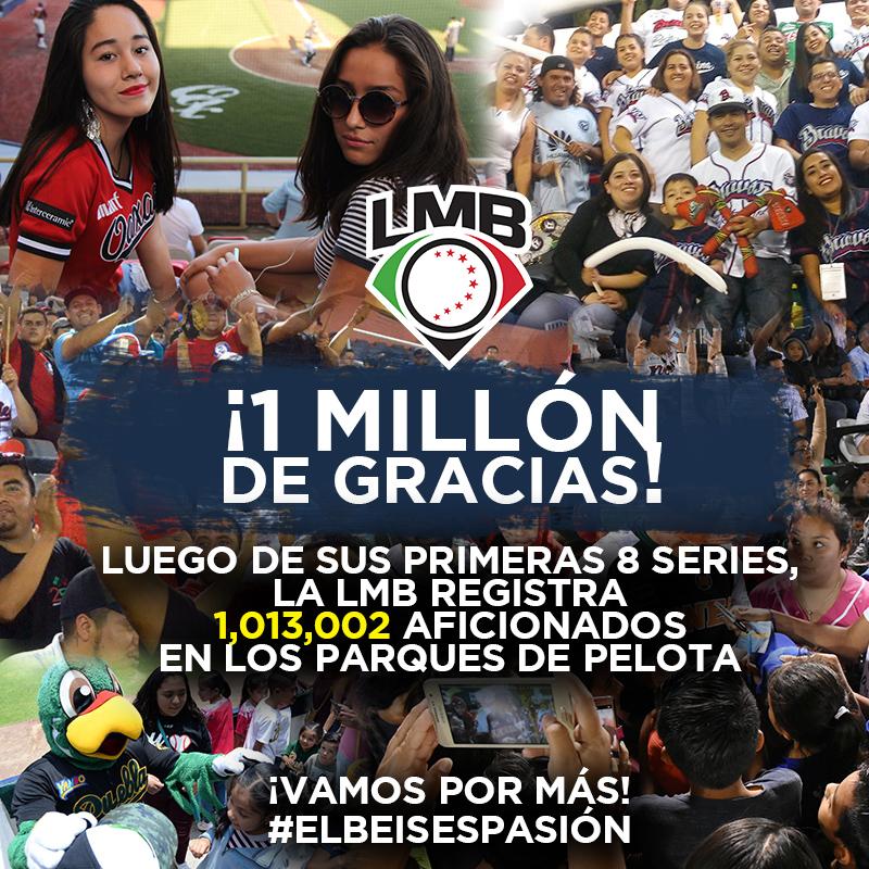 La LMB llega a 1 millón de asistentes en 2018