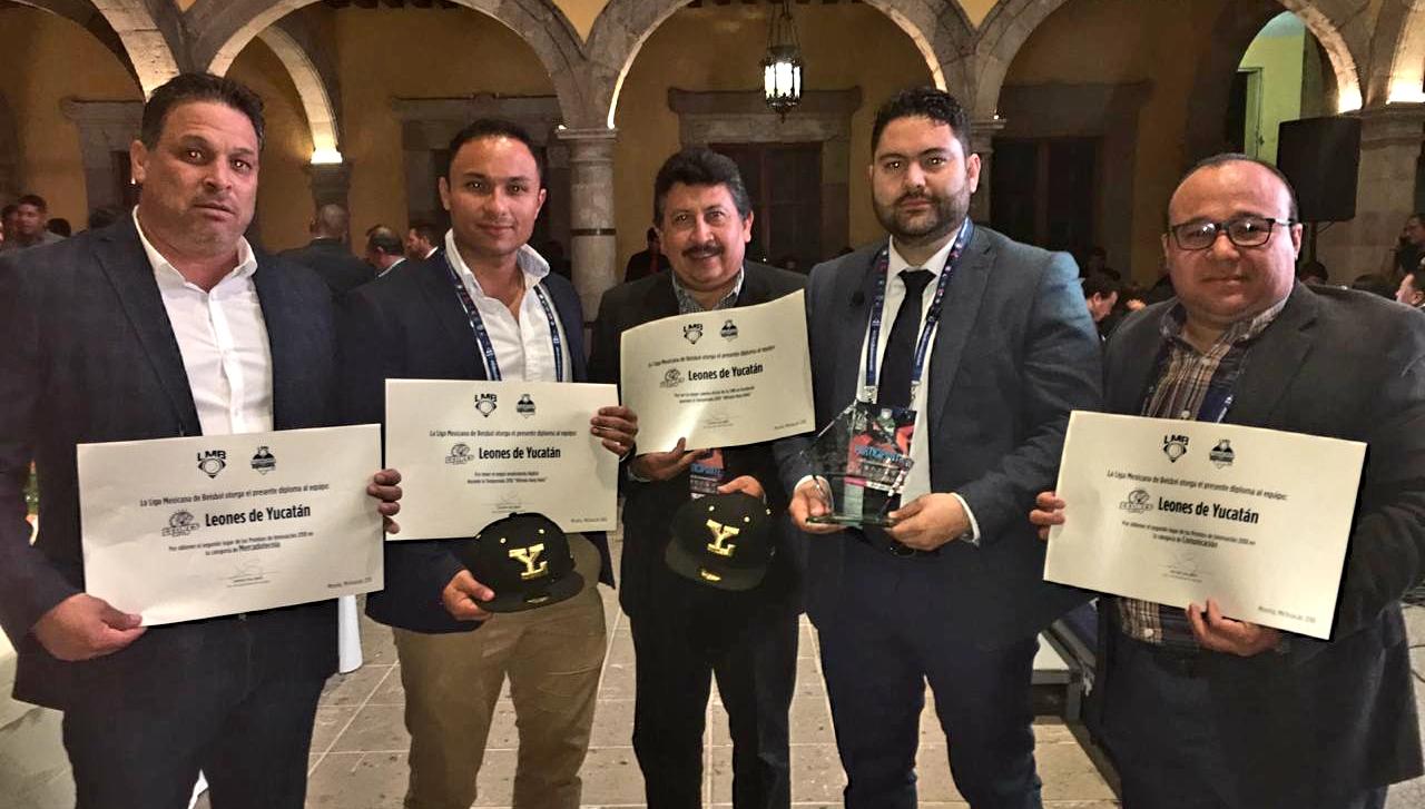 Los Leones arrasan en los premios Innovación 2018 LMB